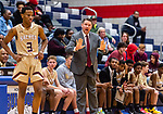 WATERBURY, CT. 11 January 2020-011120BS23 - Sacred Heart head coach Jon Carroll calls out to his team, during a NVL cross city Boys Basketball game between Sacred Heart and Crosby at the Palace at Crosby High in Waterbury on Saturday. Bill Shettle Republican-American