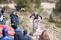 Chelva, SPAIN - MARCH 6: Jofre Cullell during Spanish Open BTT XCO on March 6, 2016 in Chelva, Spain