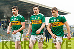 Kerry players after the Allianz Football League Division 1 Round 5 match between Kerry and Monaghan at Fitzgerald Stadium in Killarney, on Sunday.