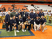 Sweet Home Panthers varsity football against the Burnt Hills-Ballston Lake Spartans during the NYSPHSAA Class-A State Championship game at the Carrier Dome on November 28, 2009 in Syracuse, New York.  Sweet Home defeated Burnt Hills 34-7.  (Copyright Mike Janes Photography)