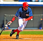 3 March 2009: Washington Nationals' first baseman Nick Johnson in action against Italy during a Spring Training exhibition game at Space Coast Stadium in Viera, Florida. The Nationals defeated Italy 9-6. Mandatory Photo Credit: Ed Wolfstein Photo