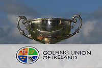 The winners Cup during Matchplay Final of the AIG Irish Amateur Close Championship 2019 in Ballybunion Golf Club, Ballybunion, Co. Kerry on Wednesday 7th August 2019.<br /> <br /> Picture:  Thos Caffrey / www.golffile.ie<br /> <br /> All photos usage must carry mandatory copyright credit (© Golffile | Thos Caffrey)