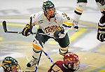 9 January 2009: University of Vermont Catamounts' forward and Team Captain Dean Strong, a Senior from Mississauga, Ontario, in action during the first game of a weekend series against the Boston College Eagles at Gutterson Fieldhouse in Burlington, Vermont. The Catamounts scored with one second remaining in regulation time to earn a 3-3 tie with the visiting Eagles. Mandatory Photo Credit: Ed Wolfstein Photo