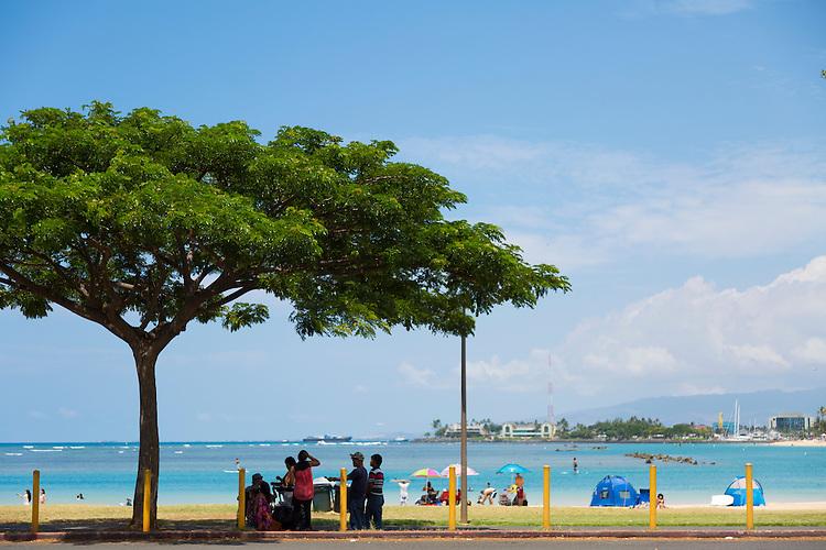 Ala Moana Beach Park in downtown Honolulu, Hawaii