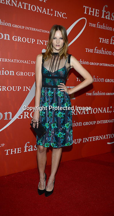 Sara Blomqvist attends the Fashion Group International's Night of Stars Gala on October 22, 2013 at Cipriani Wall Street in New York City.