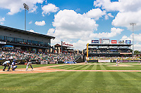 Round Rock pitcher Luke Jackson (77) delivers a pitch during a baseball game, Sunday May 03, 2015 in Round Rock, Tex. Express sweep four game series by defeating Sounds 5-4. (Mo Khursheed/TFV Media via AP images)