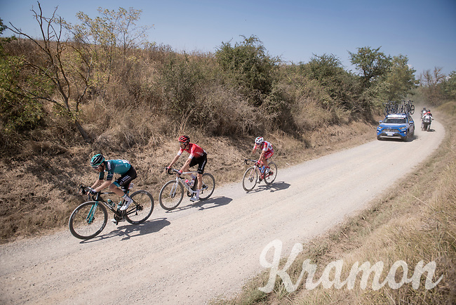breakaway group<br /> <br /> 14th Strade Bianche 2020<br /> Siena > Siena: 184km (ITALY)<br /> <br /> delayed 2020 (summer!) edition because of the Covid19 pandemic > 1st post-Covid19 World Tour race after all races worldwide were cancelled in march 2020 by the UCI