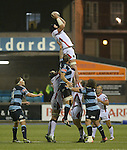 Ulster's Dan Tuohy wins the line out <br /> <br /> Rugby - Cardiff Blues v Ulster - Sportingwales- Friday 19th September 2014 - Cardiff Arms Park  - Cardiff<br /> <br /> &copy; www.sportingwales.com- PLEASE CREDIT Steve Pope