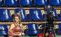 Sandra Samaniego, Video reportera, videgrafa y productora.  <br />  7mo. juego de beisbol de la serie final entre Mayos de Navojoa vs Tomateros de Culiacan celebrado en Estadio Manuel Ciclon  Echeverria. Temporada 2018 de la Liga Mexicana del Pacifico. Navojoa Sonora a  28enero 2018.  <br /> (Foto:Luis Gutierrez/NortePhoto.com)