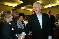 10/30/04,LAS VEGAS,NEVADA --- Former U.S. President Bill Clinton appears at a rally on behalf of democratic presidential candidate Sen. John Kerry at the Desert Willow Community Center in Las Vegas,Nevada.   --- CHRIS FARINA  copyright 2004