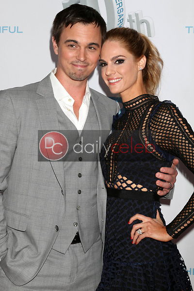 """Darin Brooks, Kelly Kruger<br /> at the """"The Bold and The Beautiful"""" 30th Anniversary Party, Clifton's Downtown, Los Angeles, CA 03-18-17<br /> David Edwards/DailyCeleb.com 818-249-4998"""