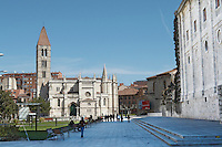 Santa Maria la Antigua church on Plaza Portugalete Valladolid spain castile and leon