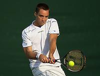 Viktor Troicki (SRB) (30) against  Daniel Gimeno-Traver (ESP) in the secnd round of the gentlemen's singles. Troicki beat  Traver 6-7 6-0 1-6 6-3 7-5 ..Tennis - Wimbledon - Day 4 - Thur 25th June 2009 - All England Lawn Tennis Club  - Wimbledon - London - United Kingdom..Frey Images, Barry House, 20-22 Worple Road, London, SW19 4DH.Tel - +44 20 8947 0100.Cell - +44 7843 383 012