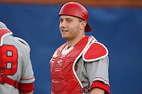 March 9, 2010:  Catcher Gabe DeMarco of the Illinois State Redbirds during a game at McKethan Stadium in Gainesville, FL.  Photo By Mike Janes/Four Seam Images