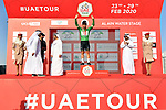 Caleb Ewan (AUS) Lotto-Soudal retains the Green Jersey at the end of Stage 5 the Al Ain Water Stage of the UAE Tour 2020 running 162km from Al Ain to Jebel Hafeet, Dubai. 27th February 2020.<br /> Picture: LaPresse/Fabio Ferrari | Cyclefile<br /> <br /> All photos usage must carry mandatory copyright credit (© Cyclefile | LaPresse/Fabio Ferrari)