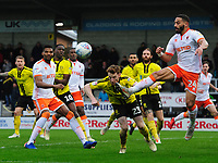 Blackpool's Liam Feeney vies for possession with Burton Albion's Stephen Quinn<br /> <br /> Photographer Chris Vaughan/CameraSport<br /> <br /> The EFL Sky Bet League One - Burton Albion v Blackpool - Saturday 16th March 2019 - Pirelli Stadium - Burton upon Trent<br /> <br /> World Copyright &copy; 2019 CameraSport. All rights reserved. 43 Linden Ave. Countesthorpe. Leicester. England. LE8 5PG - Tel: +44 (0) 116 277 4147 - admin@camerasport.com - www.camerasport.com