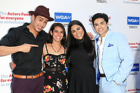 LOS ANGELES - JUN 11: Julio Macias, Sydney Yllanes, Jessica Marie Garcia, Diego Tinoco at The Actors Fund's 22nd Annual Tony Awards Viewing Party at the Skirball Cultural Center on June 10, 2018 in Los Angeles, CA
