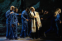 London, UK. 18.10.2013. Boy Blue Entertainment perform THE FIVE AND THE PROPHECY OF PRANA at the Barbican theatre. Dancers are: Michele 'Paleta' Rhyner, Bradley 'Bradz' Charles, Theo 'Godson' Oloyade, Kofi 'Klik' Mingo, Xena Gusthart, Vicky 'Skytilz' Mantey, Duwane Taylor, Kayla Lomas-Kirton, Shaun Smith, Hakim Saber and Jumar Aben. Picture shows: Bradley 'Bradz' Charles, Theo 'Godson' Oloyade, Tommy Franzen, Kofi 'Klik' Mingo, Vicky 'Skytilz' Mantey, Xena Gusthart. Photograph © Jane Hobson.