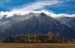 The first storm of the season rolled through the Sierra overnight bringing a reports of 5-14 inches of snow to the Truckee-Tahoe area. This view from Gardnerville, Nev., seen on Tuesday, Oct. 23, 2012..Photo by Cathleen Allison