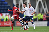 09/08/2015 Sky Bet League Championship Preston North End v Middlesbrough <br /> Albert Adomah, Will Keane