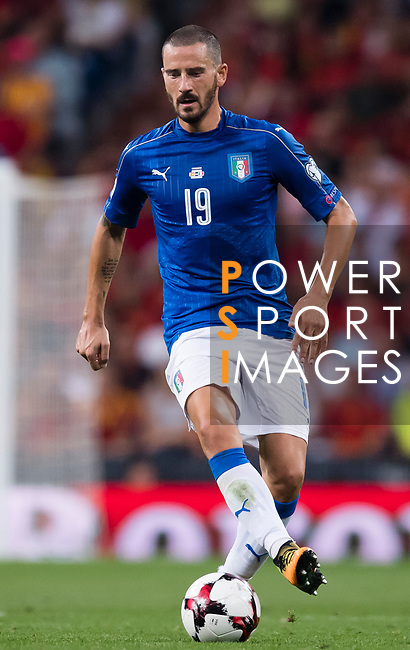Leonardo Bonucci of Italy in action during their 2018 FIFA World Cup Russia Final Qualification Round 1 Group G match between Spain and Italy on 02 September 2017, at Santiago Bernabeu Stadium, in Madrid, Spain. Photo by Diego Gonzalez / Power Sport Images