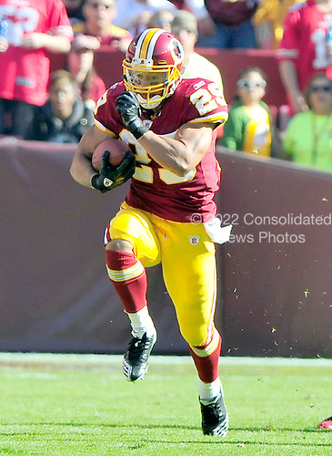 Washington Redskins running back Roy Helu (29) carries in the first quarter against the San Francisco 49ers  at FedEx Field in Landover, Maryland on Sunday, November 6, 2011..Credit: Ron Sachs / CNP