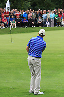 Padraig Harrington (IRL) chips onto the 11th green during Day 1 Thursday of The Irish Open presented by Discover Ireland at Killarney Golf & Fishing Club on 28th July 2011 (Photo Jenny Matthews/www.golffile.ie)