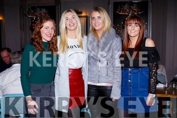 Girls night out at No 4 The Square on Saturday night last, l-r, Lorna O'Regan (Kilmoyley), Laura Sheehy (Lixnaw), Breda Griffin (Kilmoyley) and Virginia Regan (Kilmoyley).