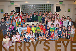 AWARDS NIGHT: Jimmy Turner (centre) Chairperson of Kerry Community Games presenting the children of Ardfert and Kilmoyley Community Games with their trophy's at their end of year awards presentation in the Ballyroe Heights Hotel on Tuesday.   Copyright Kerry's Eye 2008