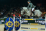 Henrik von Eckermann of Germany riding Crespo PKZ the the Massimo Dutti Trophy during the Longines Hong Kong Masters 2015 at the AsiaWorld Expo on 15 February 2015 in Hong Kong, China. Photo by Juan Flor / Power Sport Images