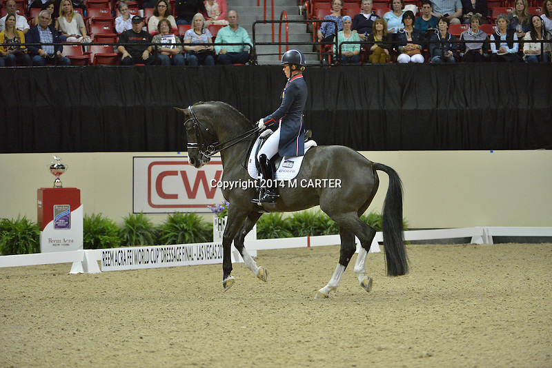 16 April 2015: DUJARDIN, Charlotte on Valegro
