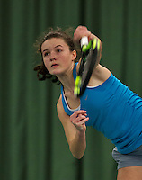 Rotterdam, The Netherlands, March 19, 2016,  TV Victoria, NOJK 14/18 years, Carmen van Poelgeest (NED)<br /> Photo: Tennisimages/Henk Koster