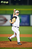 Louisville Cardinals relief pitcher Adam Wolf (31) delivers a pitch during a game against the Maryland Terrapins on February 18, 2017 at Spectrum Field in Clearwater, Florida.  Louisville defeated Maryland 10-7.  (Mike Janes/Four Seam Images)