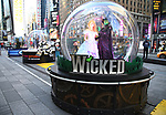 """Times Square Alliance unveiled its first season of Broadway """"Show Globes"""", """"Wicked""""  in Times Square on November 04, 2019 in New York City."""