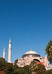 Hagia Sophia Blue Sky 02 - Hagia Sophia (Aya Sofya) basilica, Sultanahmet, Istanbul, Turkey