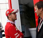 13.07.2017, Silverstone Circuit, Silverstone, FORMULA 1 BRITISH GRAND PRIX 2017, 13.07. - 16.07.2017<br /> , im Bild<br /> Sebastian Vettel (GER#5), Scuderia Ferrari im Gespr&auml;ch mit Auto-Motor und Sport Journalicten Michael Schmidt<br /> <br /> Foto &copy; nordphoto / Bratic