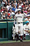 Kotaro Kiyomiya, AUGUST 13, 2015 - Baseball : 97th Japanese High School Baseball Championship second round match Waseda Jitsugyo 7-6 Hiroshima Shinjo at Hanshin Koshien Stadium in Nishinomiya, Hyogo, Japan. (Photo by BFP/AFLO)