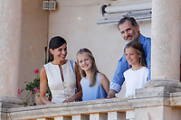 PALMA DE MALLORCA, SPAIN- August 08: Queen Letizia, King Felipe, Princess Sofia and Princess Leonor visit San Marroig in Mallorca, Spain on August0 8, 2019.  ***NO SPAIN***<br /> CAP/MPI/RJO<br /> ©RJO/MPI/Capital Pictures