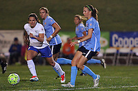 Piscataway, NJ - Friday May 13, 2016: Sky Blue FC midfielder Sarah Killion (16) passes the ball. Sky Blue FC defeated the Boston Breakers 1-0 during a regular season National Women's Soccer League (NWSL) match at Yurcak Field.