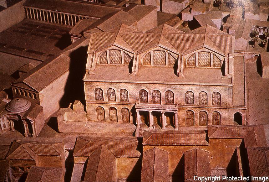 Rome: Model of Basilica Maxentius (Constantine)
