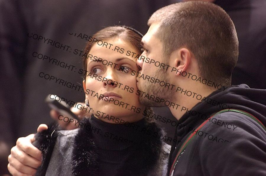SPORT KOSARKA BASKETBALL EUROLEAGUE EVROLIGA PARTIZAN BELGRADE BEOGRAD JOVENTUT HUVENTUD  Natasa Vukoje i Nemanja Rnic 3.1.2007. photo: Pedja Milosavljevic<br />