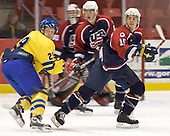 Erik Andersson (HV 71), Chad Kolarik(University of Michigan - Phoenix Coyotes) (Ian Keserich - Matt Niskanen)  The US Blue team lost to Sweden 3-2 in a shootout as part of the 2005 Summer Hockey Challenge at the National Junior (U-20) Evaluation Camp in the 1980 rink at Lake Placid, NY on Saturday, August 13, 2005.