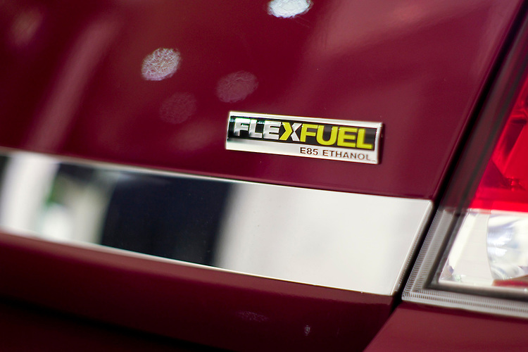 WASHINGTON, DC - Jan. 22: A 2008 Chevrolet Impala during media day at the Washington Auto Show. It is a flex fuel vehicle, meaning that it can run on standard gasoline or E85 ethanol. (Photo by Scott J. Ferrell/Congressional Quarterly)