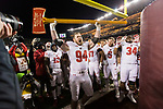 Wisconsin Badgers defensive lineman Conor Sheehy (94) celebrates with the Paul Bunyan Axe after an NCAA College Big Ten Conference football game against the Minnesota Golden Gophers Saturday, November 25, 2017, in Minneapolis, Minnesota. The Badgers won 31-0. (Photo by David Stluka)