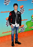 LOS ANGELES, CA. March 23, 2019: Asher Angel at Nickelodeon's Kids' Choice Awards 2019 at USC's Galen Center.<br /> Picture: Paul Smith/Featureflash