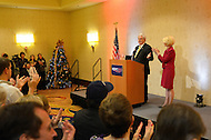 December 21, 2011  (Rossyln, VA)  Republican presidential candidate Newt Gingrich held a rally at the Key Bridge Marriott in Northern Virginia on December 21, 2011, with his wife Callista (right)  (Photo by Don Baxter/Media Images International)