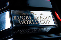 Picture by Allan McKenzie/SWpix.com - 06/11/2018 - Commercial - Rugby League - Rugby League World Cup Trophy - Halifax, England - The Paul Barrière Rugby League World Cup trophy.