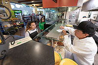 Grill Station<br /> The Marketplace in the Johnson Student Center (JSC) on Jan. 24, 2019, maintained by Campus Dining.<br /> (Photo by Marc Campos, Occidental College Photographer)