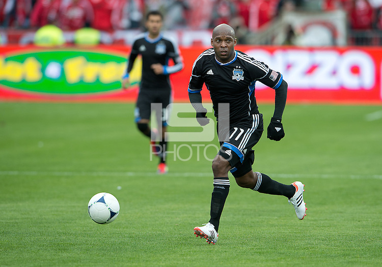 24 March 2012: San Jose Earthquakes midfielder Tressor Moreno #11in action during a game between the San Jose Earthquakes and Toronto FC at BMO Field in Toronto..The San Jose Earthquakes won 3-0..