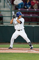 August 21, 2008:  Tri-City Dust Devils' Thomas Field at-bat during a Northwest League game against the Yakima Bears at Gesa Stadium in Pasco, Washington.